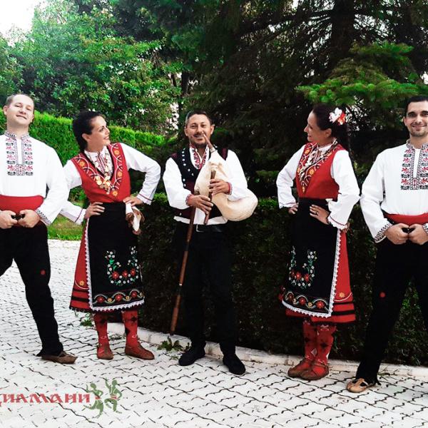 Сватбено участие на 11.08.2017 с тъпани и гайда